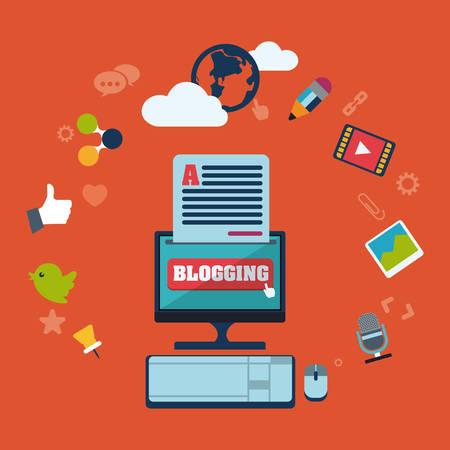 blog concept design Vector