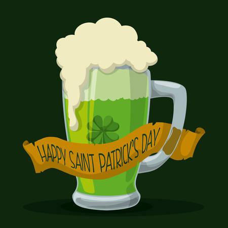 patrik day: st patrik day design Illustration