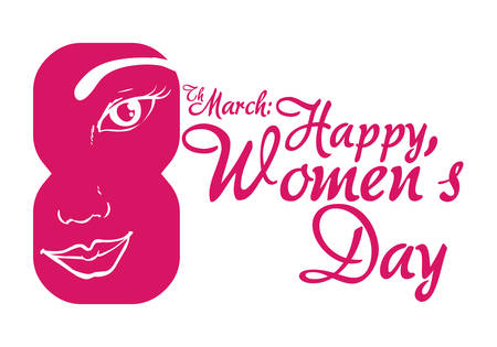 happy people faces: happy womens day design