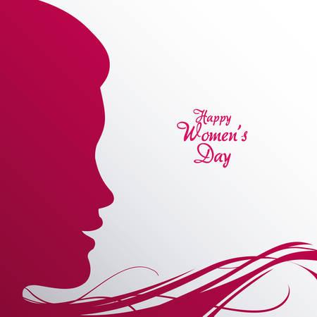 fraue: glücklich Frauen tag Illustration