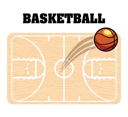 balon baloncesto: dise�o de deporte de baloncesto Vectores