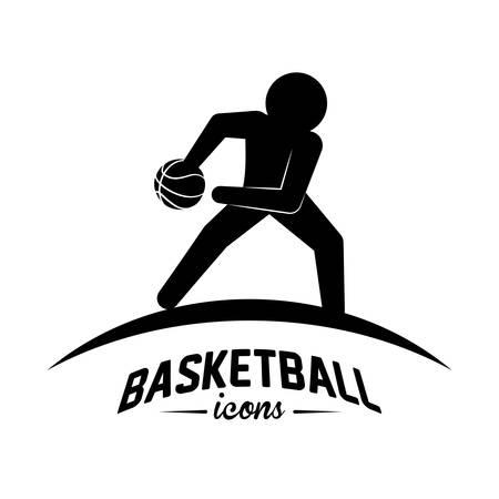 balon baloncesto: diseño de deporte de baloncesto Vectores
