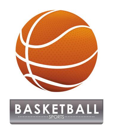 balon baloncesto: diseño del emblema del baloncesto Vectores