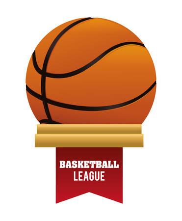balon baloncesto: dise�o del emblema del baloncesto Vectores