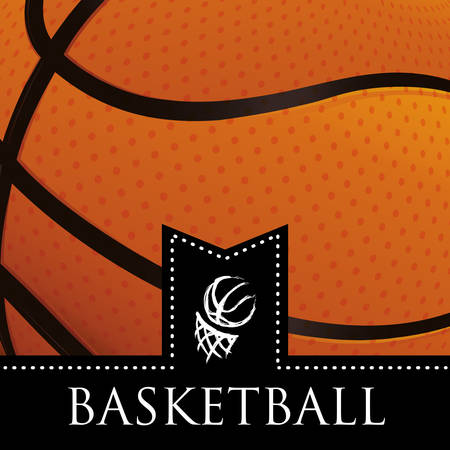 baloncesto: dise�o del emblema del baloncesto Vectores
