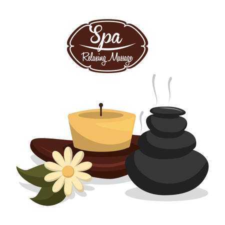 spa relax: spa relax  design Illustration