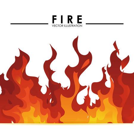 llamas de fuego: dise�o de la llama del fuego Vectores