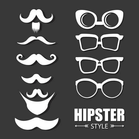 mustaches: hipster style design