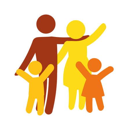 family silhouette design