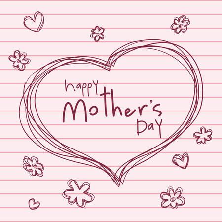 Feliz madres día diseño, ilustración vectorial gráfico Foto de archivo - 36620261