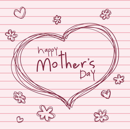 mothers day: happy mothers day design, vector illustration  graphic