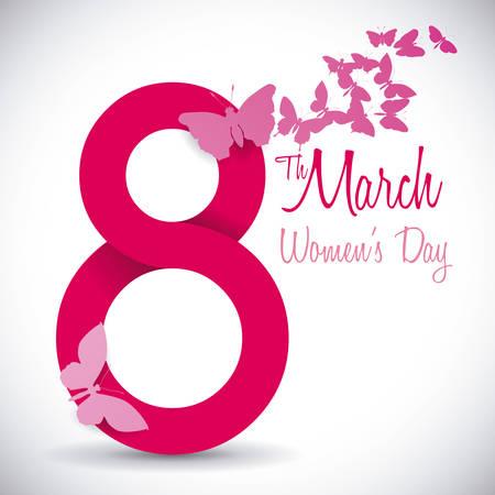 vrouwen: vrouwen dag ontwerp, vector illustratie grafische Stock Illustratie