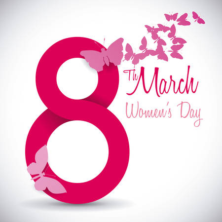 butterfly women: womens day design, vector illustration  graphic