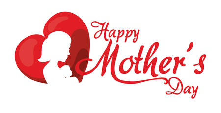 mothers day design, vector illustration graphic