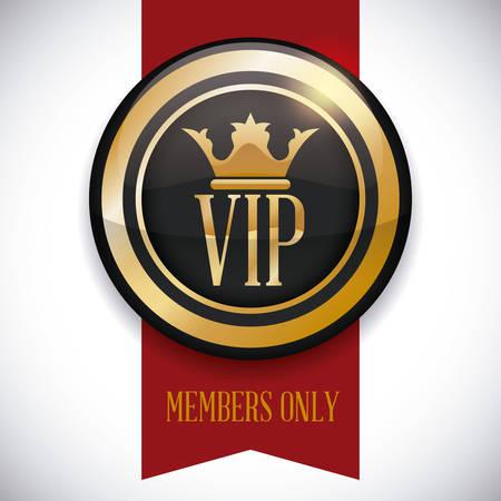 vip symbol: vip member design, vector illustration graphic