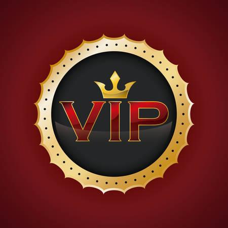 red icon: vip member design, vector illustration  graphic