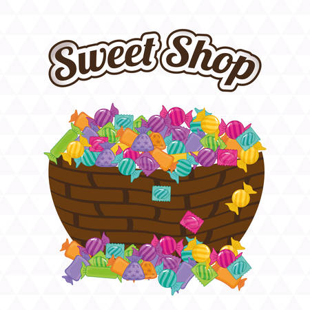sweet shop: dise�o de la tienda dulce, ejemplo gr�fico del vector
