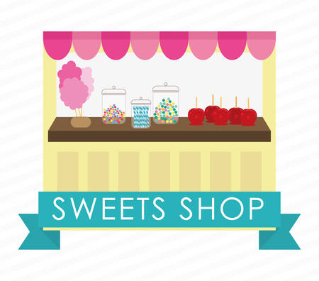 candy apple: sweet shop design, vector illustration graphic
