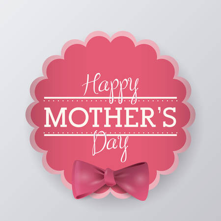 holiday celebrations: happy mothers day design, vector illustration  graphic