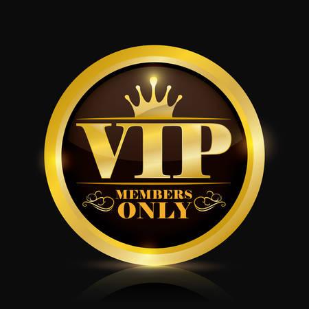 vip member design, vector illustration eps10 graphic Vettoriali
