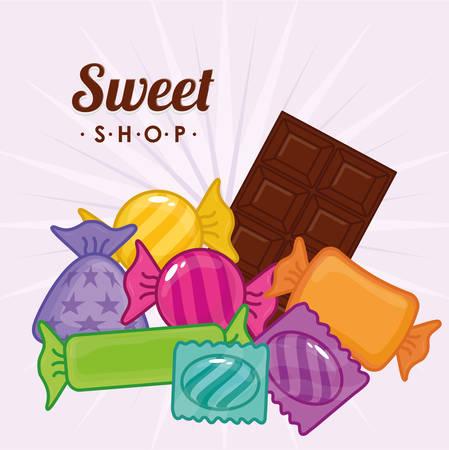 sweet shop: sweet shop design, vector illustration  graphic Illustration