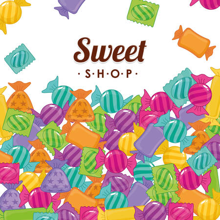 sweet shop: sweet shop design, vector illustration  graphic Illustration