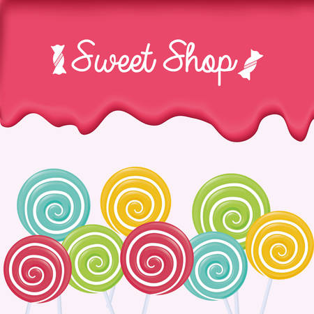 sweet shop: sweet shop design, vector illustration graphic