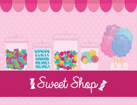 sweet shop design, vector illustration  graphic Illustration