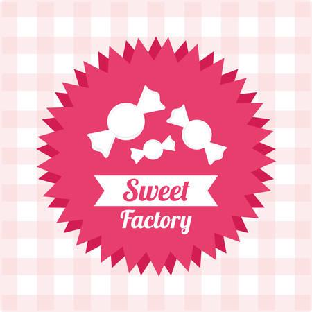 lazo rosa: diseño de la tienda dulce, ejemplo gráfico del vector