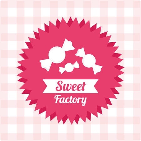 pink ribbons: sweet shop design, vector illustration graphic