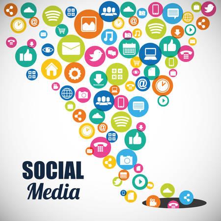 interaccion social: dise�o de medios de comunicaci�n social, ejemplo gr�fico del vector Vectores