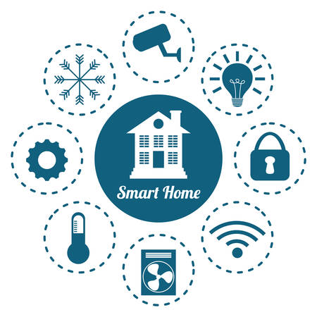my home: smart home design, vector illustration eps10 graphic