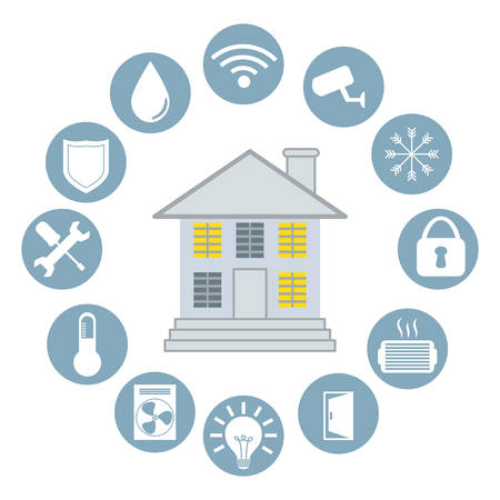 energy buttons: smart home design, vector illustration eps10 graphic