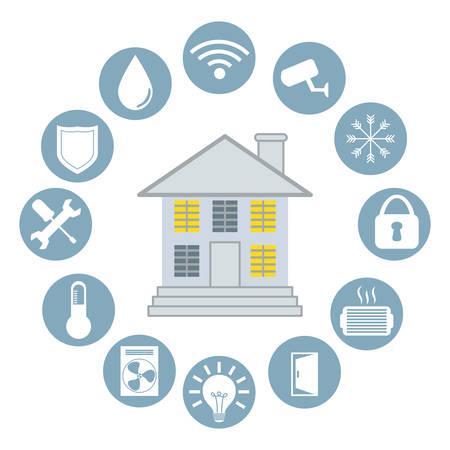 Smart home ontwerp, vectorillustratie eps10 grafische Stockfoto - 36825879