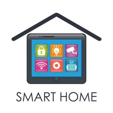 Home Design: Smart Home Design, Vector Illustration Eps10 Graphic