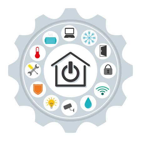 security lights: smart home design, vector illustration eps10 graphic