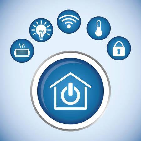 monitoreo: dise�o inteligente del hogar, ejemplo gr�fico del vector eps10 Vectores