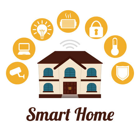 conditioned: smart home design, vector illustration eps10 graphic