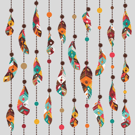 feather decoration design, vector illustration eps10 graphic