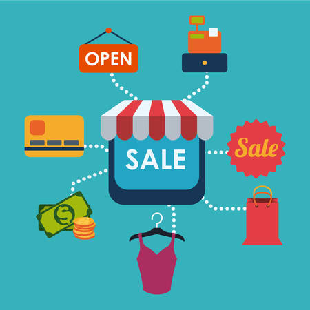 open shirt: sales and retail design, vector illustration eps10 graphic