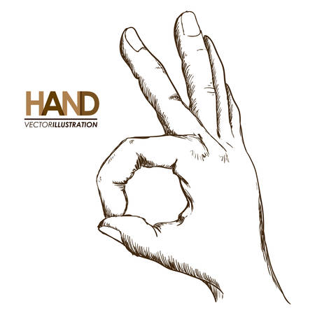 signals: hands signals design, vector illustration eps10 graphic