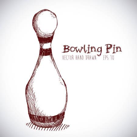 drawing pins: bowling sport design, vector illustration eps10 graphic Illustration