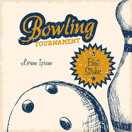 bowling sport design, vector illustration eps10 graphic Illustration