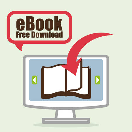 digital library: eBook design over white background, vector illustration.