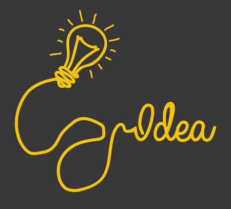 eureka: Idea design over gray background, vector illustration.