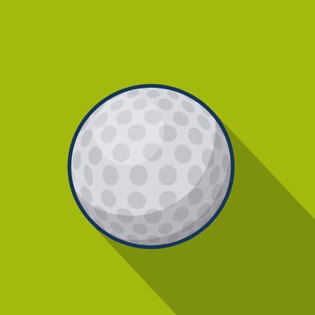 golf  ball: Diseño de los deportes, ilustración vectorial.