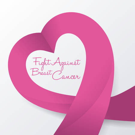 cancer de mama: Dise�o c�ncer de mama sobre fondo blanco, ilustraci�n vectorial. Vectores