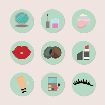 mirrow: Make up design over white background, vector illustration.