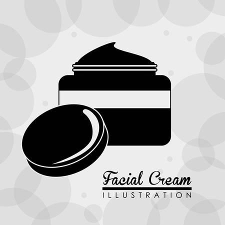 woman face cream: Make up design over white background, vector illustration.