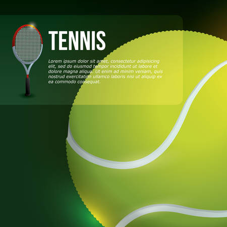 real tennis: Sports design, vector illustration.